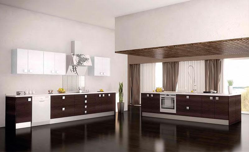 Cocinas de madera modernas mm for Modelos de puertas de cocinas integrales